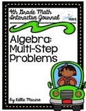 4th Grade TEKS Algebra with Multi Step Problems Interactiv