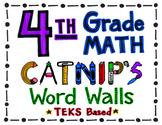 4th Grade TEKS Based Math Word Wall