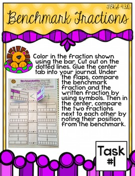 4th Grade TEKS Comparing Fractions Interactive Journal