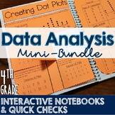 4th Grade TEKS Data Analysis Interactive Notebook & Quick Check Mini-Bundle