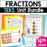 4th Grade TEKS Fractions Unit and Bundle by Marvel Math