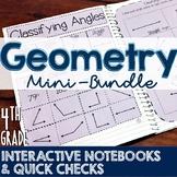 4th Grade TEKS Geometry Interactive Notebook & Quick Check Mini-Bundle