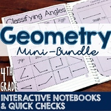 4th Grade TEKS Geometry Interactive Notebook & Quick Check