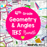 4th Grade TEKS Geometry Unit and Bundle by Marvel Math