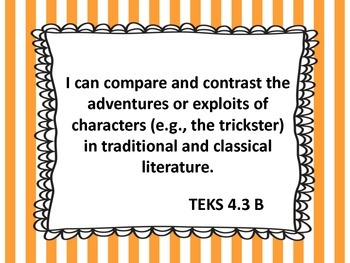 """4th Grade TEKS """"I Can"""" Statements -  2015 All Core Subjects"""