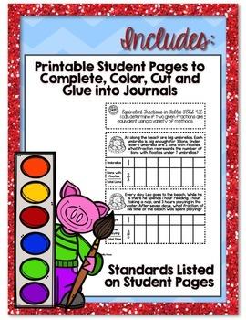 4th Grade TEKS Interactive Math Journal *BUNDLE*