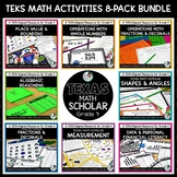 4th Grade TEKS Math Activities & Printables GROWING Bundle