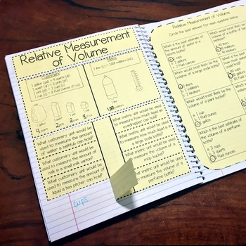 4th Grade TEKS Measurement Interactive Notebook