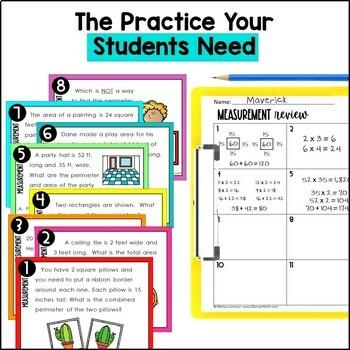 4th Grade TEKS Measurement Unit and Bundle by Marvel Math