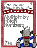 4th Grade TEKS Multiply by 1-Digit Numbers Interactive Journal
