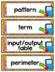 4th Grade TEKS Number Patterns, Perimeter and Area Interactive Journal