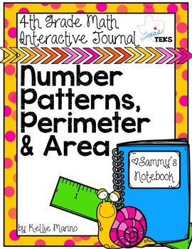 4th Grade TEKS Number Patterns, Perimeter and Area Interac