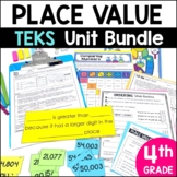 4th Grade TEKS Place Value Unit and Bundle by Marvel Math