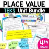 4th Grade TEKS Place Value Unit and Bundle by Marvel Math