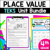 Distance Learning 4th Grade TEKS Place Value Unit and Bundle