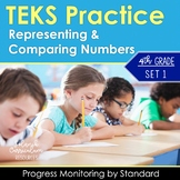 4th Grade TEKS Practice Place Value Representing & Comparing Numbers 4.2B 4.2A