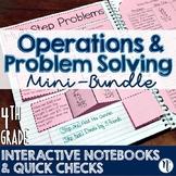 4th Grade TEKS Problem Solving Interactive Notebook & Quick Checks Mini-Bundle