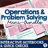 4th Grade TEKS Problem Solving Interactive Notebook & Quic