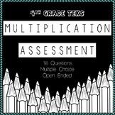 4th Grade TEKS STAAR Based Multiplication Assessment