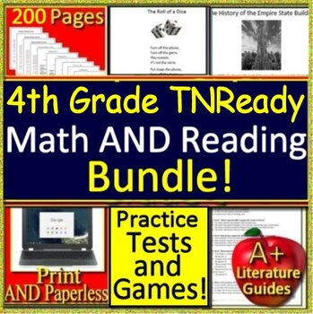 4th Grade TNReady Reading and Math: Tennessee Comprehensive TCAP TN Ready