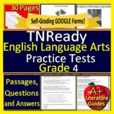 4th Grade TNReady Test Prep Practice Tennessee State ELA TCAP - New Format!