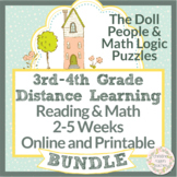 The Doll People & Math Logic Puzzles, Distance Learning, 3rd & 4th Grade