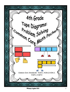 4th Grade Tape Diagrams: Problem Solving Common Core Packet by ...