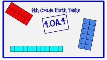 4th Grade Task Cards- 4.OA.4