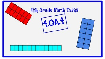 4th Grade Task Cards- 4.OA.4