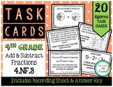 4.NF.3 Add & Subtract Fractions 4th Grade Task Cards