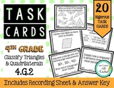 4th Grade Task Cards | Classify Triangles and Quadrilatera