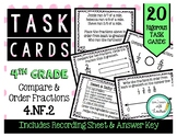 4.NF.2 Compare & Order Fractions 4th Grade Task Cards