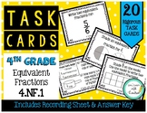 4.NF.A.1 Equivalent Fractions 4th Grade Task Cards