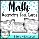 4th Grade Task Cards| Geometry Bundle (60 Cards)