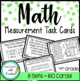 4th Grade Task Cards | Measurement Bundle (160 Cards)