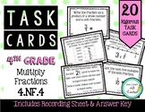 4.NF.4 Multiply Fractions 4th Grade Task Cards