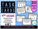 4.NF.A.1 Simplest Form & Common Denominators 4th Grade Task Cards