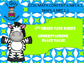 4th Grade Task Cards - Understanding Place Value