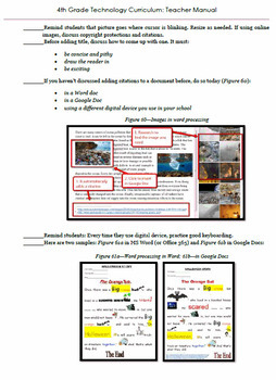 4th Grade Technology Curriculum: 32 Lessons