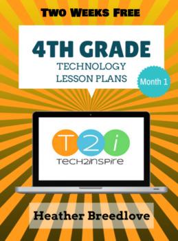 4th Grade Technology Lesson Bundle Month 1 & 2