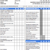 4th Grade Technology Standards Based Report Card