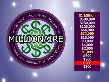 4th Grade Tennessee Fraction Who Wants to be a Millionaire
