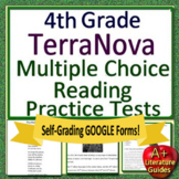 4th Grade TerraNova Test Prep - Reading ELA Practice Tests Bundle Terra Nova