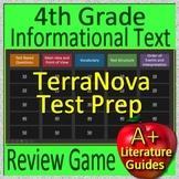 4th Grade TerraNova Test Prep Reading Informational Text Non-Fiction Review Game