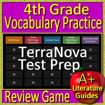 Terranova practice teaching resources teachers pay teachers 4th grade terranova test prep vocabulary and mythology allusions review game fandeluxe Gallery