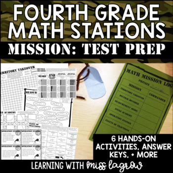 4th Grade Test Prep Boot Camp Math Missions Stations