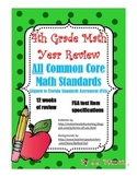 4th Grade Test Prep Common Core Math Year Review! FSA