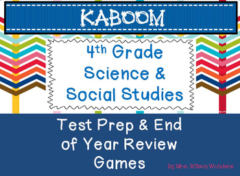 4th Grade Test Prep & End of Year Review Games Bundle