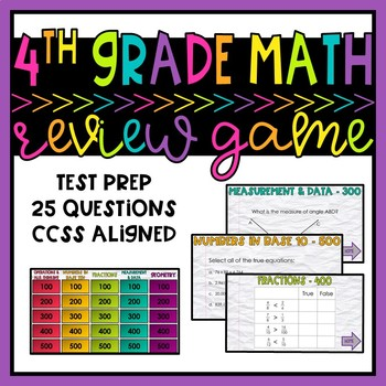 4th Grade Test Prep Game