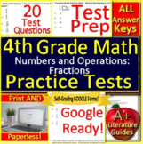 4th Grade Test Prep Math: Numbers and Operations Fractions Standardized Testing